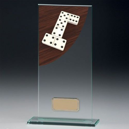 Colour Curve Dominoes Jade Glass Award 200mm